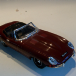 Model Box 1:43 1960's Jaguar E type maroon TIPO 8461 road car loose Italy